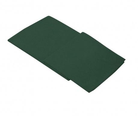 Долен чаршаф Percale Loryn Dark Green 270x310 см