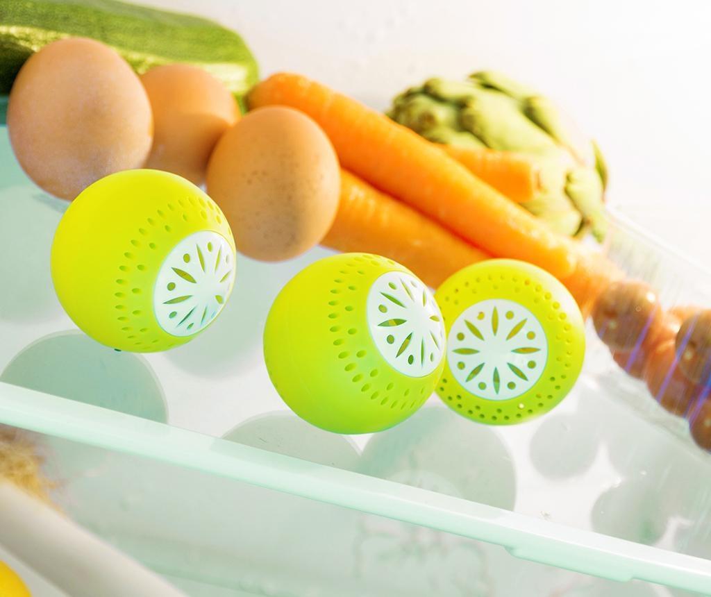 Set 3 bile pentru absorbirea mirosurilor din frigider Fresh