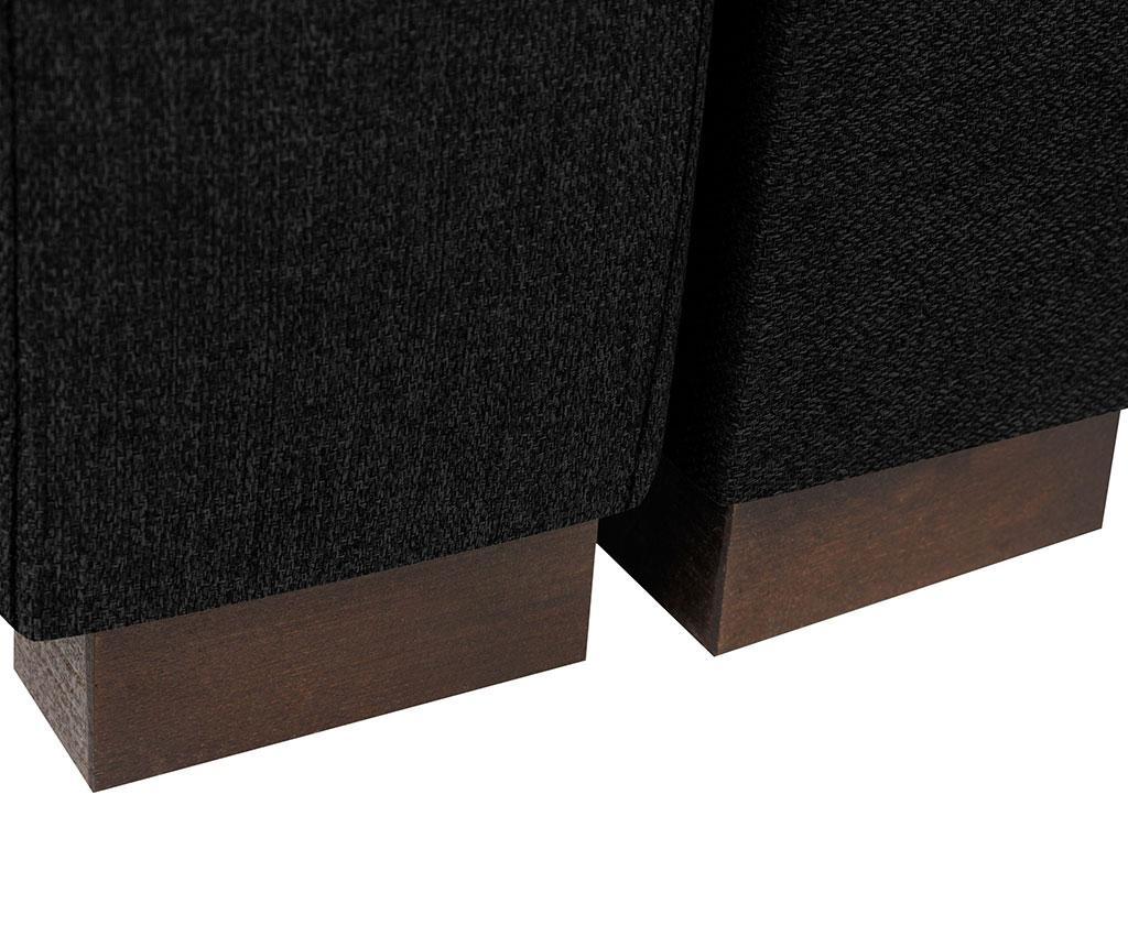 Canapea extensibila 3 locuri Giovanni Dark Grey