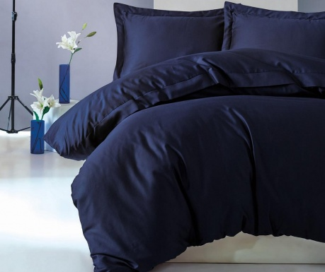 Posteljnina King Sateen Supreme Elegant Dark Blue