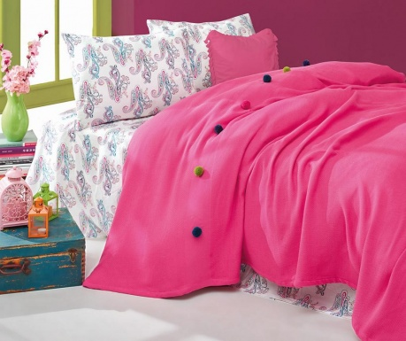 Posteljnina Single Ranforce Pique Fancy Fuchsia