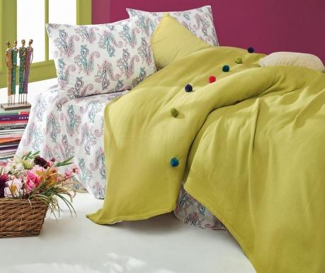 Спално бельо King Ranforce Pique Fancy Green