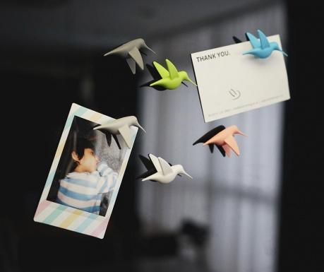 Set 6 magneti Humming Bird Pastel