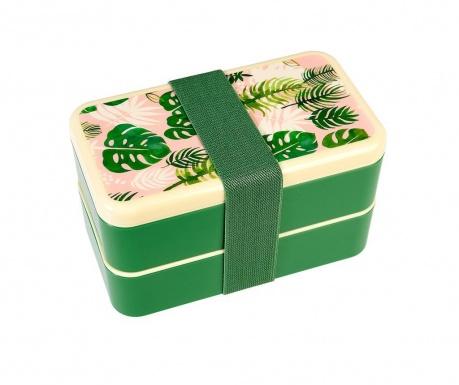 Kutija za užinu i  3-dijelni pribor za jelo Tropical Palm