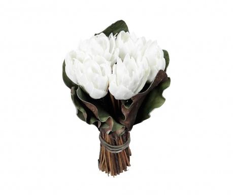 Šopek iz umetnega cvetja Bota White
