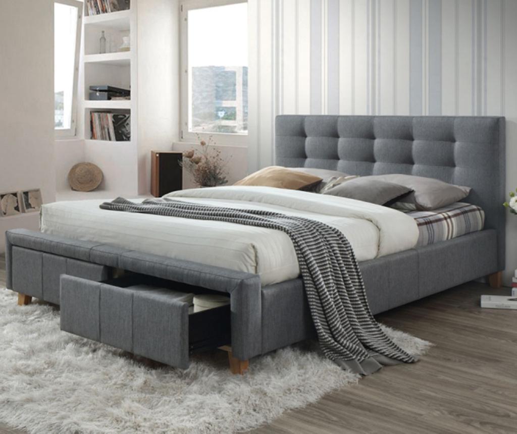 Krevet Alten Grey 160x200 cm