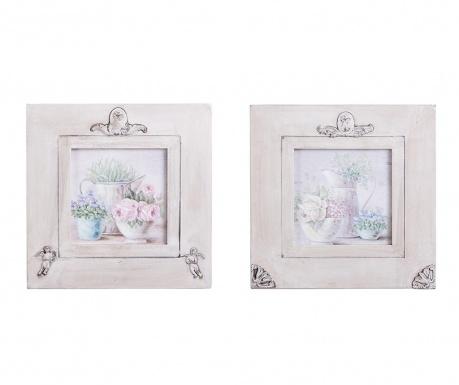 Zestaw 2 obrazów Annabelle 30x30 cm