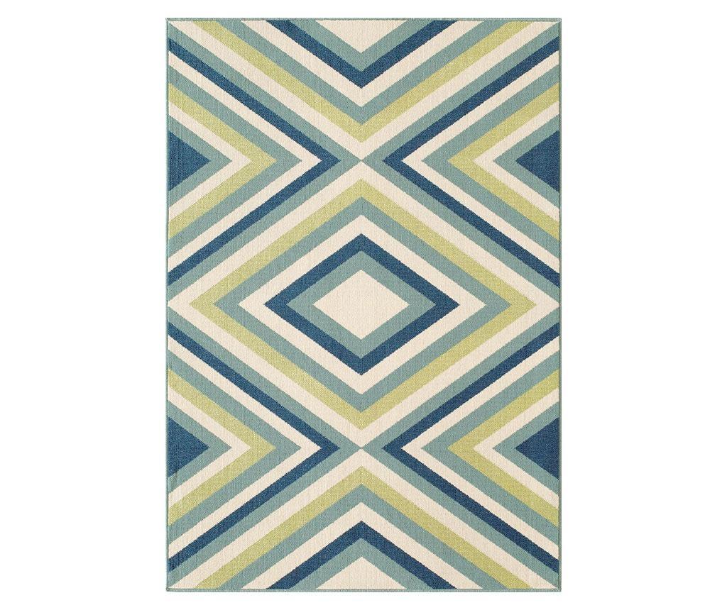 Preproga Rombi Blue & Green 133x190 cm