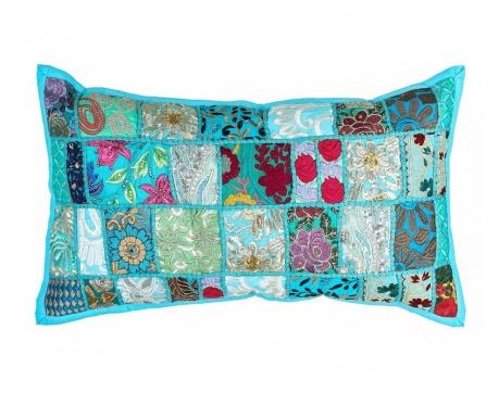 Poduszka dekoracyjna Ethnic Turquoise 35x60 cm