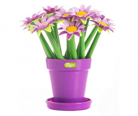 Set 15 pixuri si suport Flower Purple
