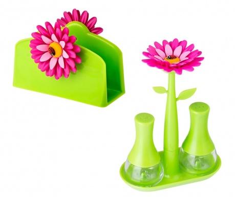 Set de bucatarie 4 piese Flower Power