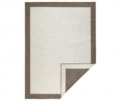 Venkovní koberec Reversible Twin Mono Brown