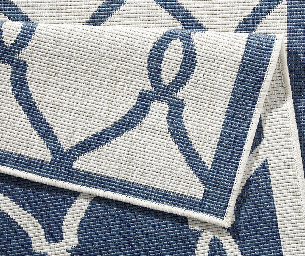 Reverzibilni tepih Twin Rimini Blue Cream 80x350 cm