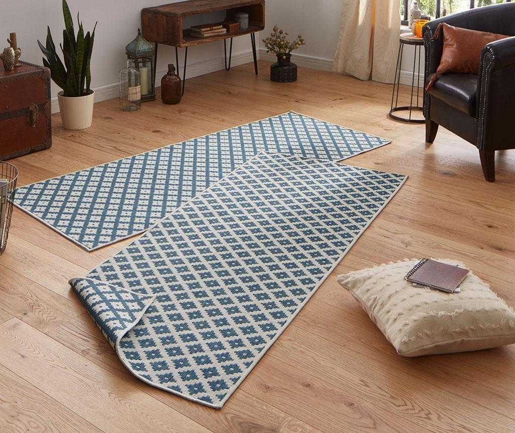 Tepih za vanjski prostor Nizza Blue Cream 120x170 cm