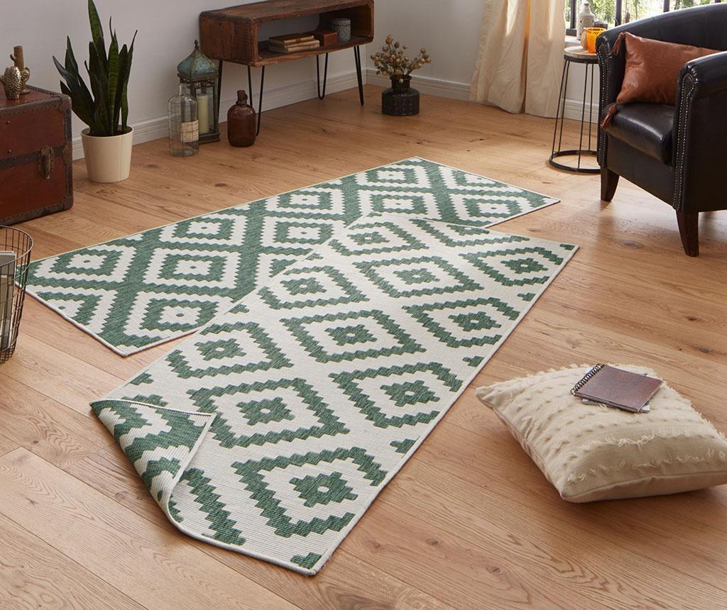 Twin Malta Green Cream Megfordítható szőnyeg 80x250 cm