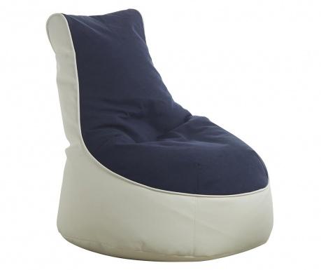 Puf Quinton Comfort White  Blue