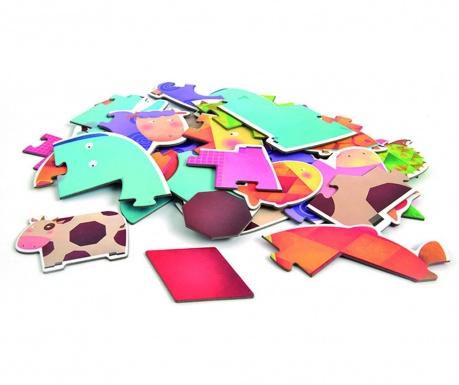 Zestaw 7 puzzli Geometry & Animal