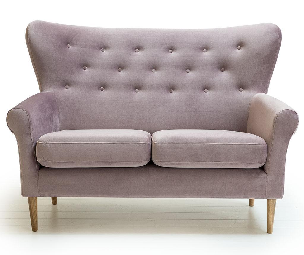 Amelie Powder Pink Kétszemélyes kanapé