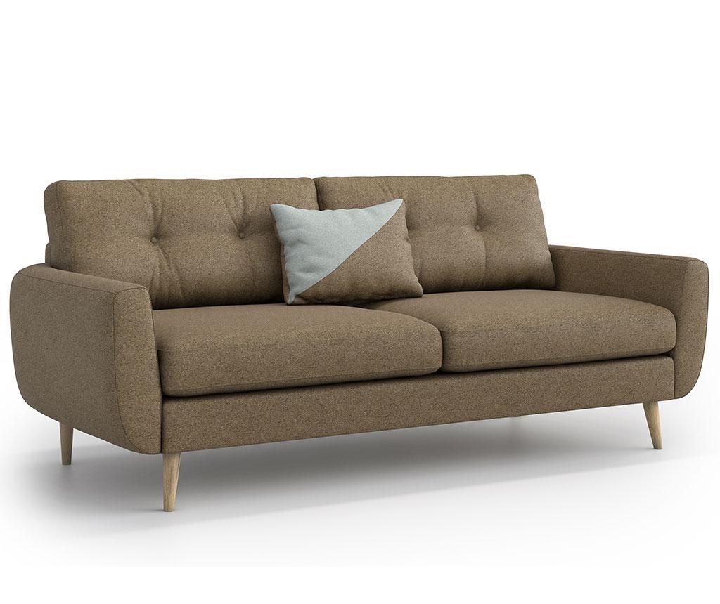 Harris Ontario Brown Háromszemélyes kanapé