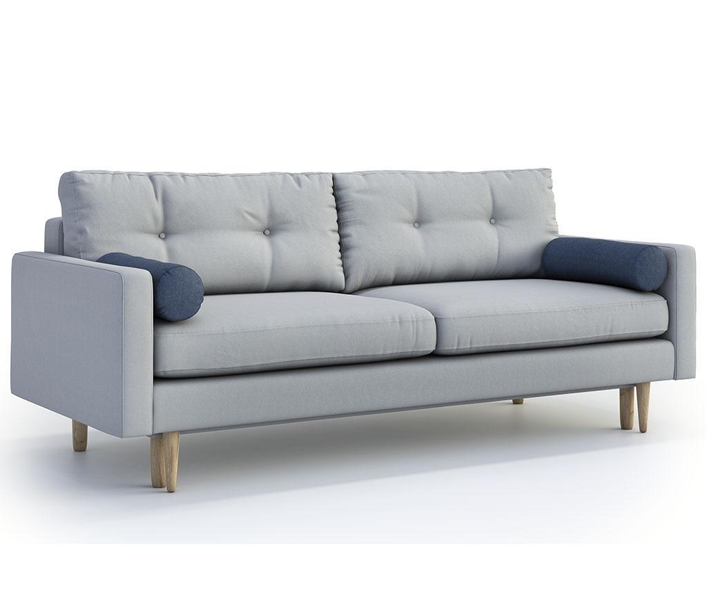 Canapea extensibila 3 locuri Pure Soro Light Grey