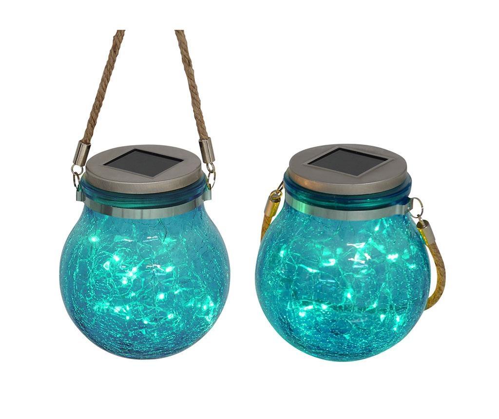 Set 2 solarnih svetilk Frozen Aqua