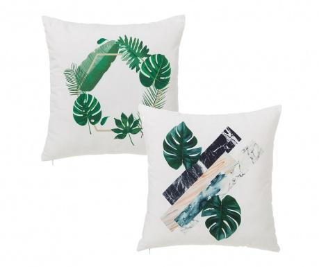 Sada 2 dekoračních polštářů Leaf 45x45 cm