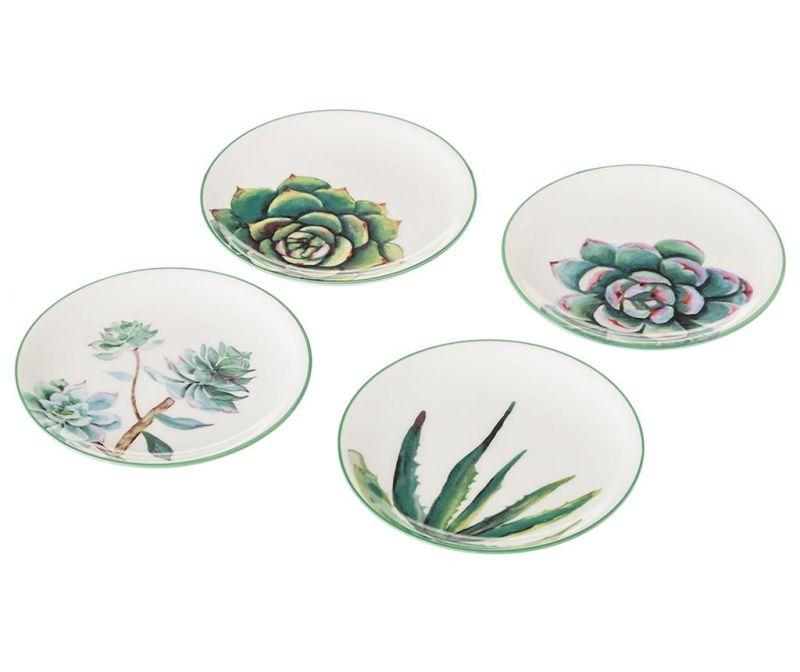 Sada 4 tanierikov Flowers Mini