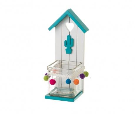 Свещник House Cactus Blue