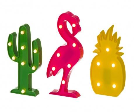 Set 3 svjetleća ukrasa Exotic