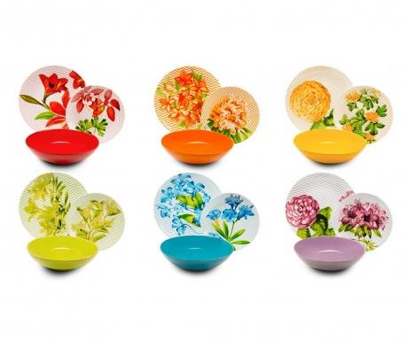 Σετ πιάτα φαγητού 18 τεμάχια Floral