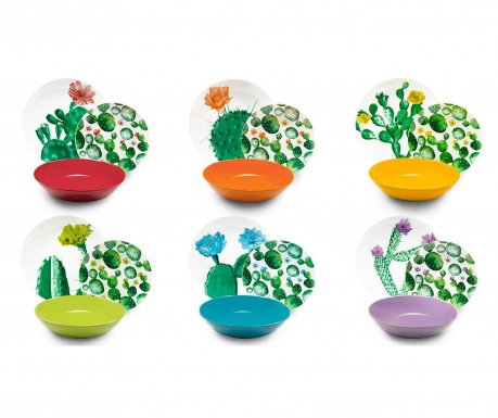 Set de masa 18 piese Color Cactus