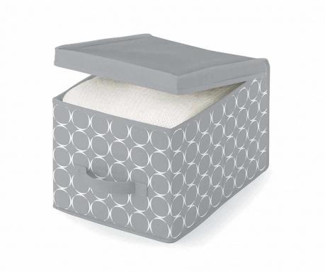Úložná krabica s vekom Hoop Grey S