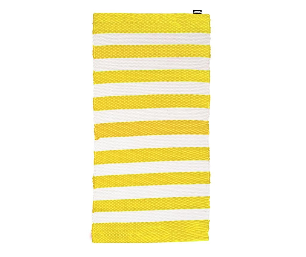 Covor tip pres Stripes Yellow 65x130 cm