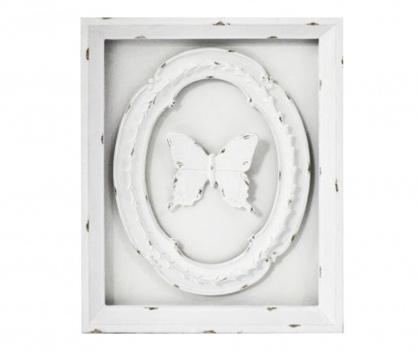 Decoratiune de perete Butterfly White