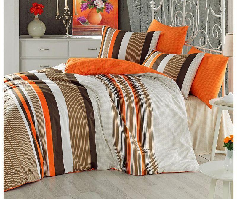 Posteljina King Ranforce Touch Orange 200x220