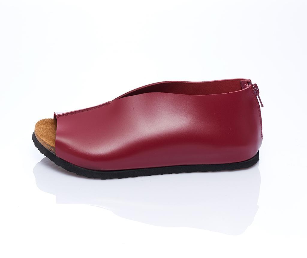 Sandale dama Erika Burgundy 36