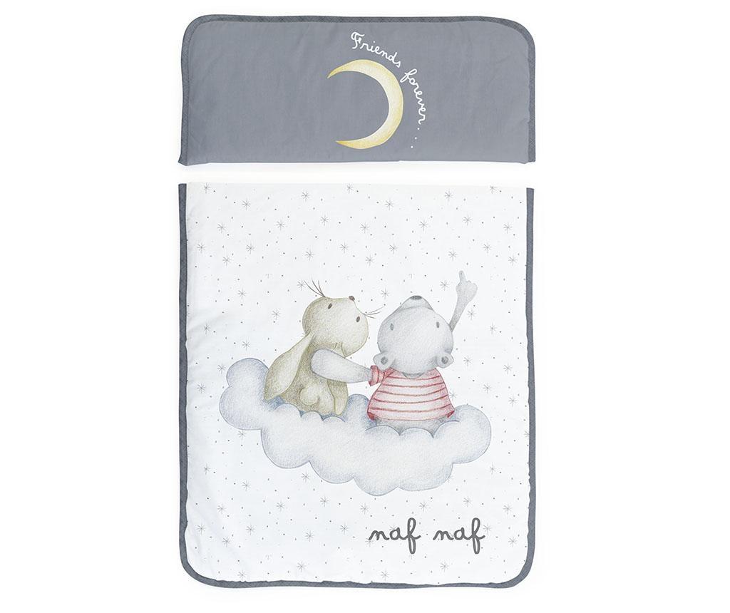 Set - otroška psteljica z baldahinom in dodatki Rabbit & Moon