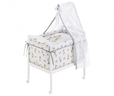 Set krevetić sa baldahinom i dodacima Giraffe Simple