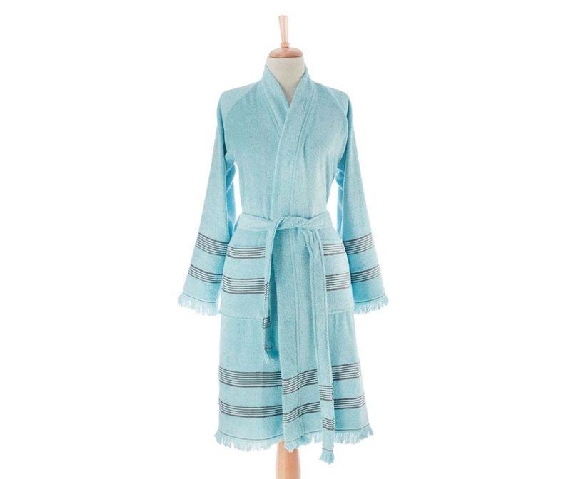 Ženski kopalni plašč Softy Blue L/XL