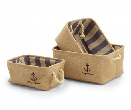 Set 3 cosuri Anchor Striped