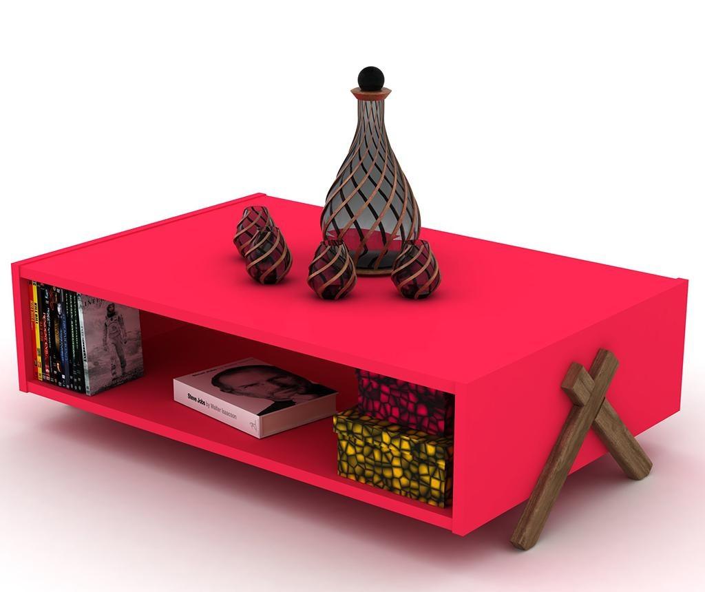 Kipp Walnut Pink Dohányzóasztal