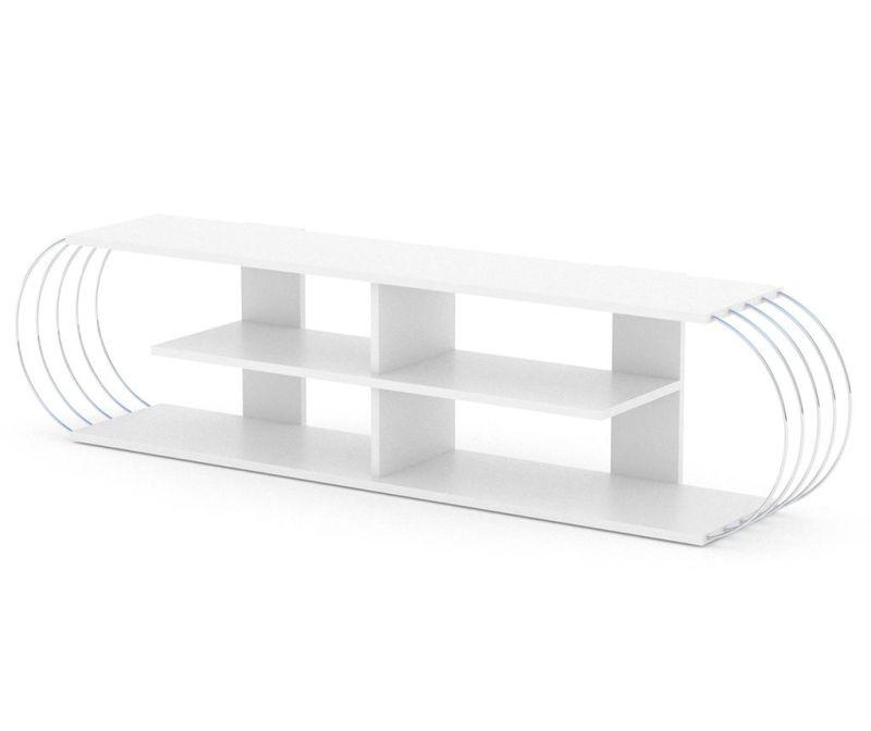 TV Komoda Case White Chrome