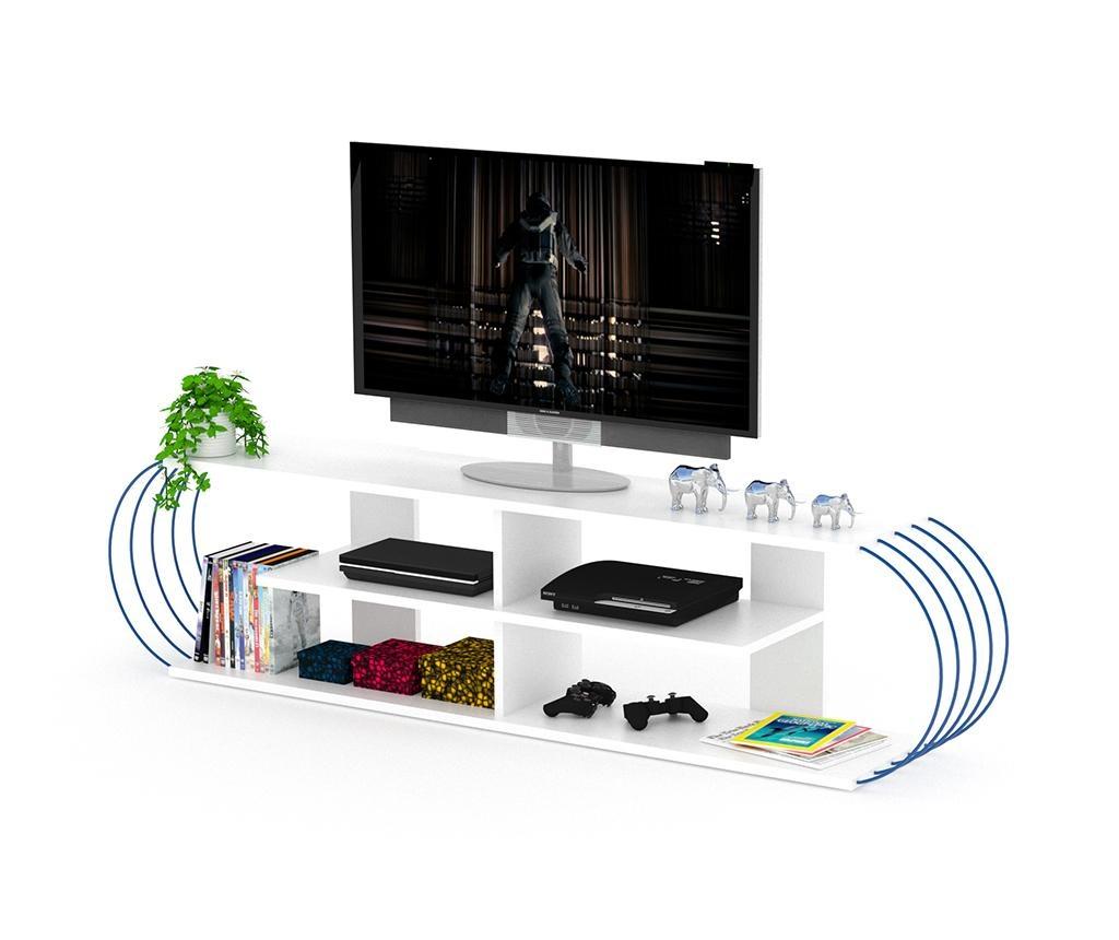 Comoda TV Case White Blue