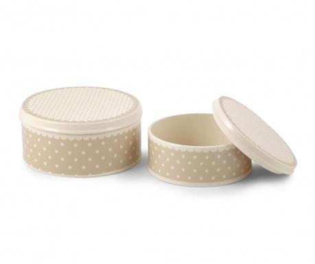 2 кутии за бисквити с капак Dots