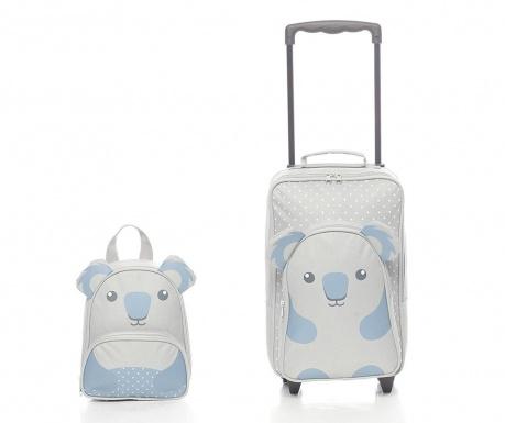 Zestaw walizka na kółkach i tornister dla dzieci Koala