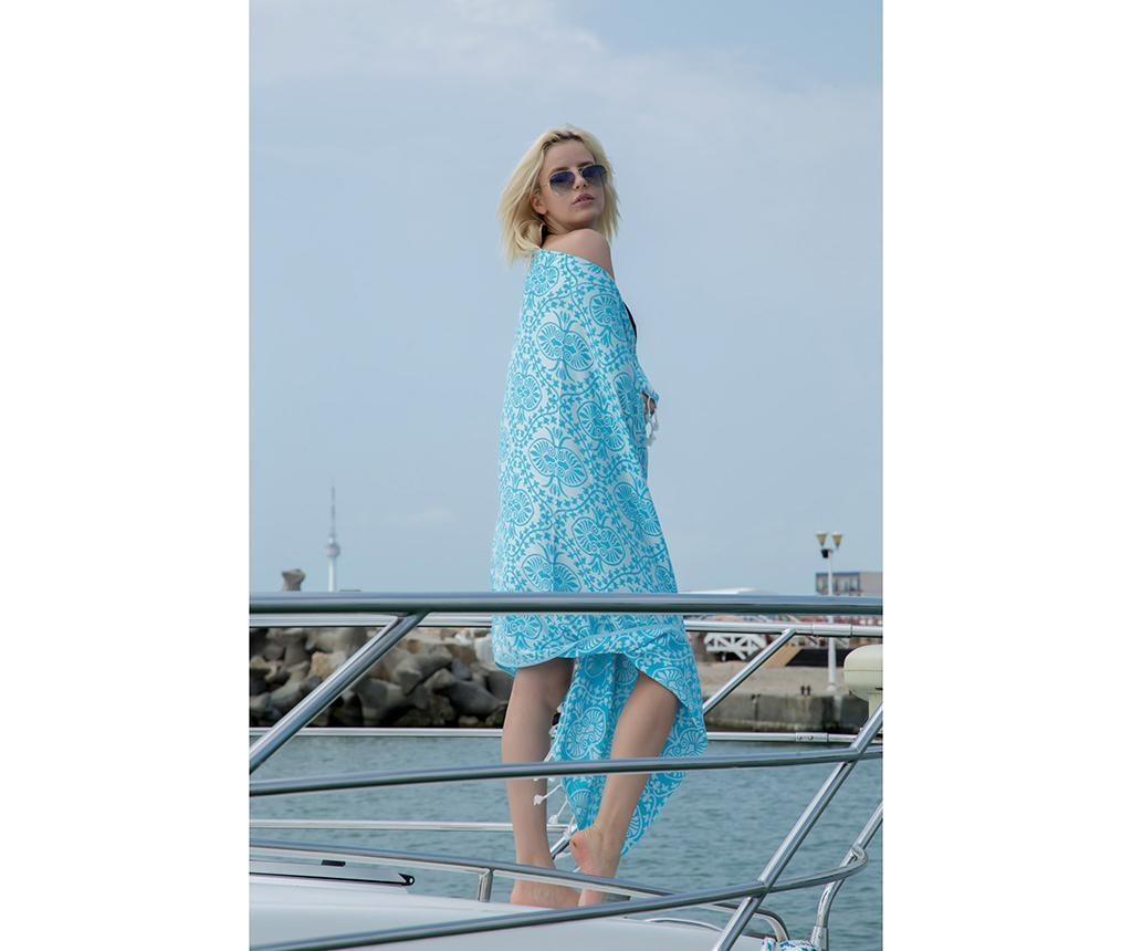 Kupaonski ručnik Pestemal Bianca Soft Turquoise 100x165 cm