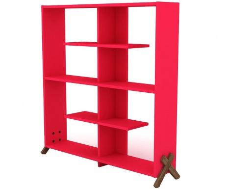 Knjižni regal Kipp Walnut Pink