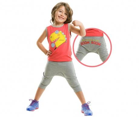 Set maiou si pantaloni trei sferturi pentru copii Boom Boom Baggy