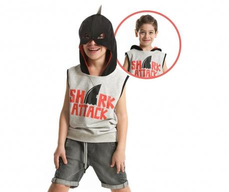 Tricou fara maneci pentru copii Shark Mask