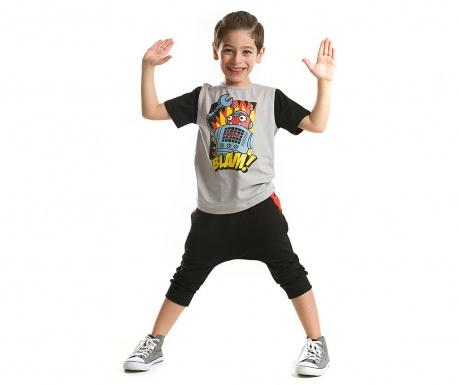 Set tricou si pantaloni trei sferturi pentru copii Blam Baggy